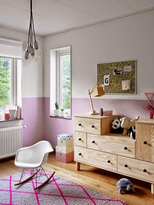 Feng Shui Study Room: Half-painted Pink Walls