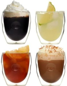 Ozeri Double walled beverage glasses