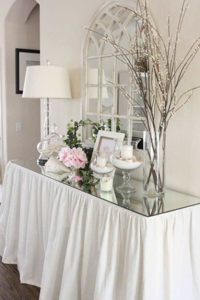 Entryway Table with Glass Top Gala