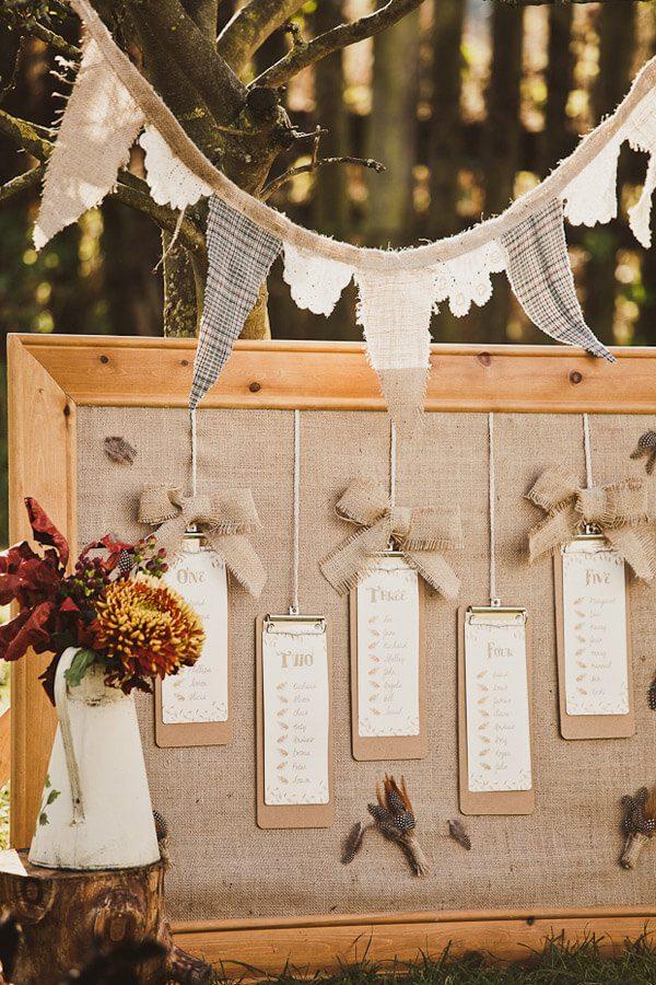 creative wedding seating chart ideas