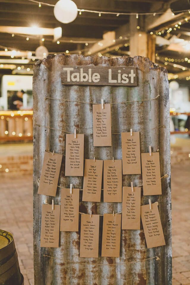 fall wedding seating chart ideas