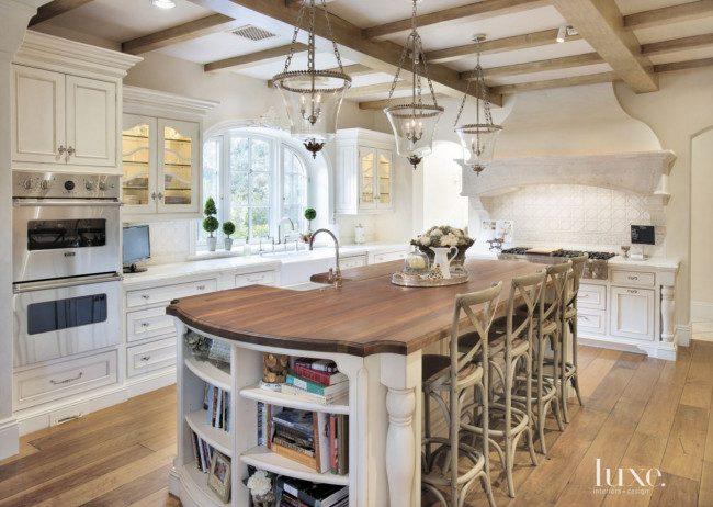 white rustic kitchen cabinets