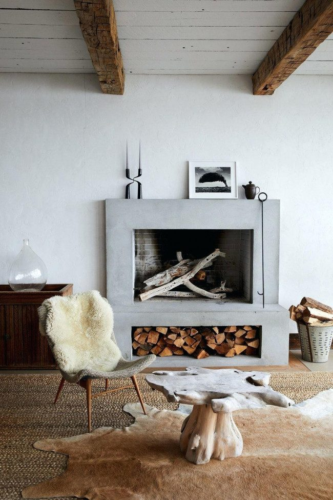 corner fireplace decor