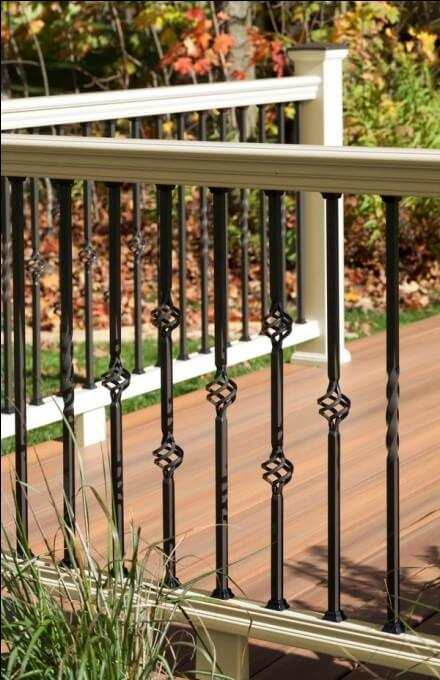 deck railing lights ideas
