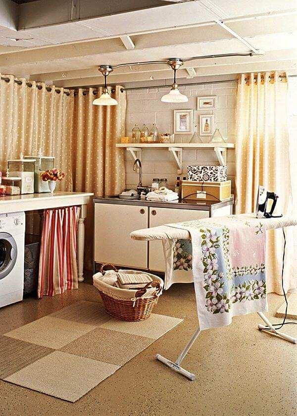 basement laundry room floor ideas