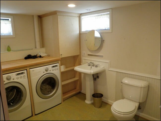 small basement laundry room ideas