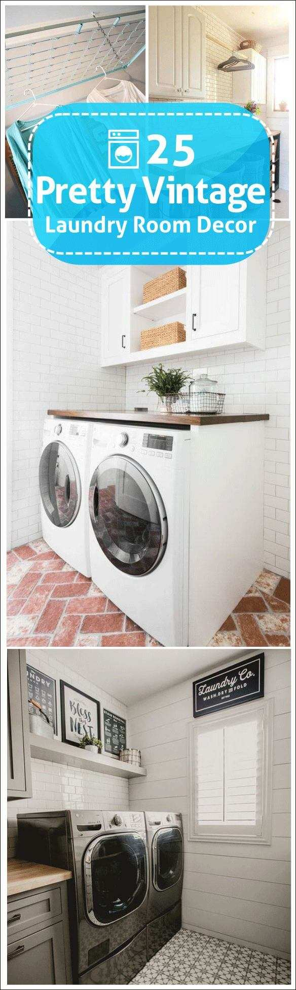vintage laundry room decor amazon