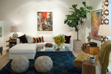 living room layout sectional sofa eclectic furniture modern sofas adrienne houzz decor functional layouts space derosa placement rooms settings table