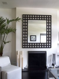 How to decorate your living room with black mirrors | Home ...