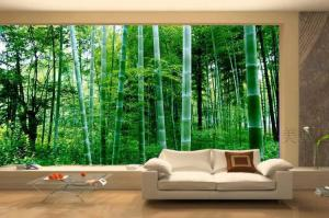 living wallpapers modern decor designs decoration forest rooms bamboo sofa space luxury