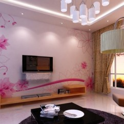 Best Color For Living Room Wallpaper Corner Furniture Wallpapers Design Ideas In Uk Purple Feature Wall