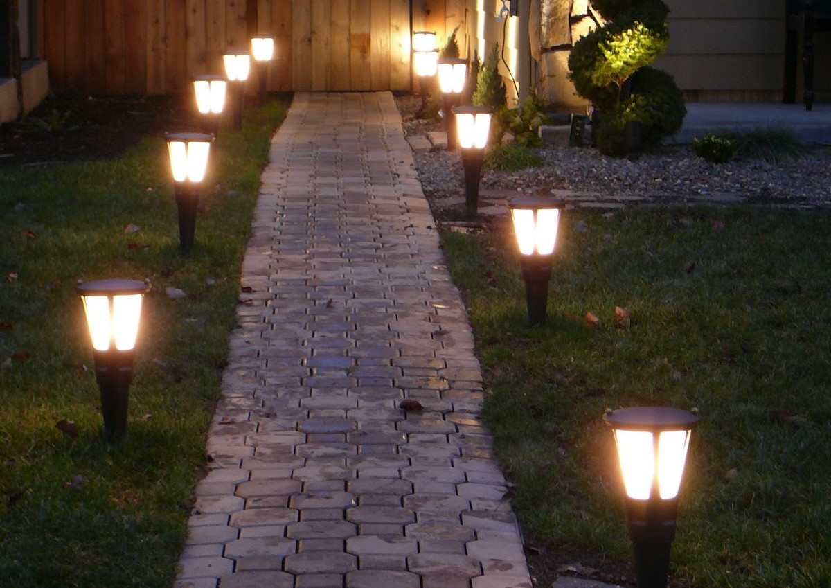 Outside Solar Lighting Gardens