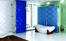 Blue and White Bathroom Tile Ideas