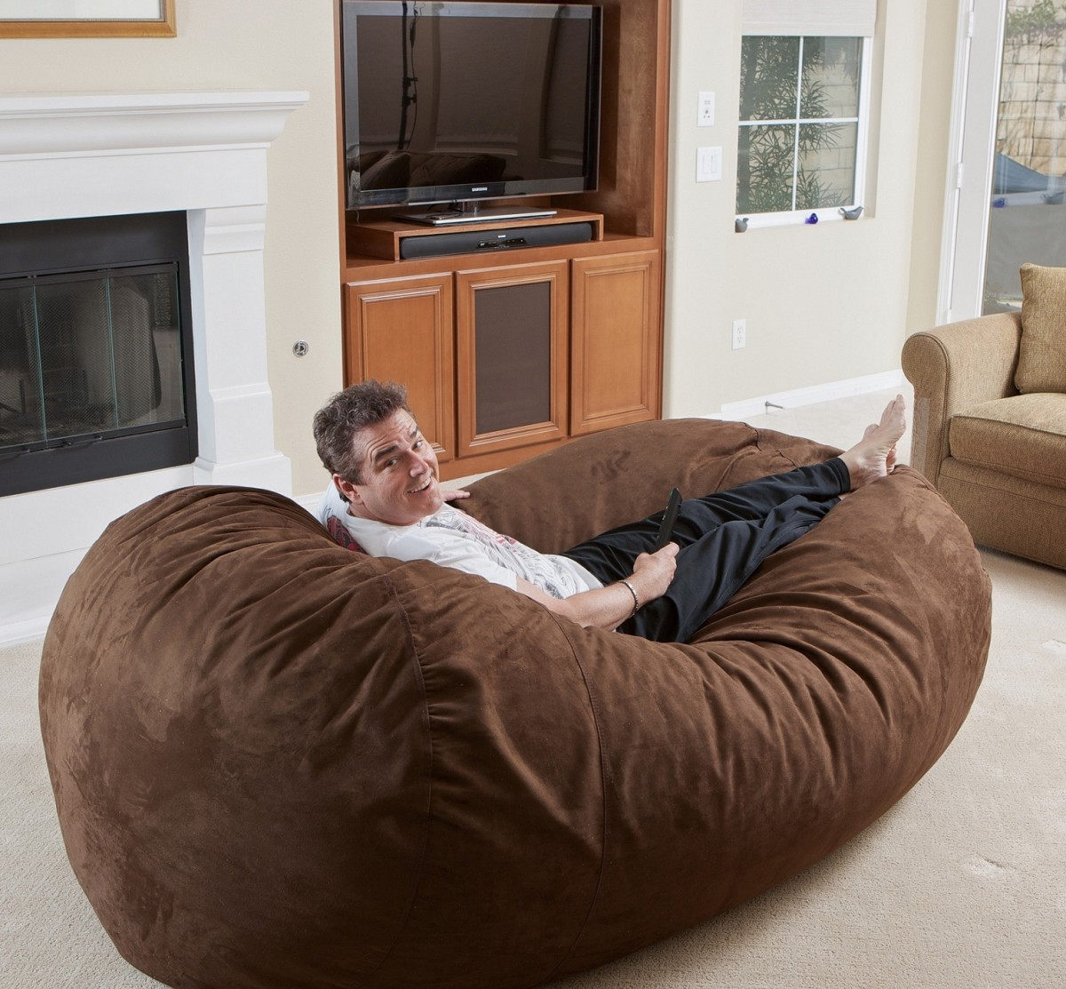 bean bag chair bed bertolini church chairs best for adults ideas with images