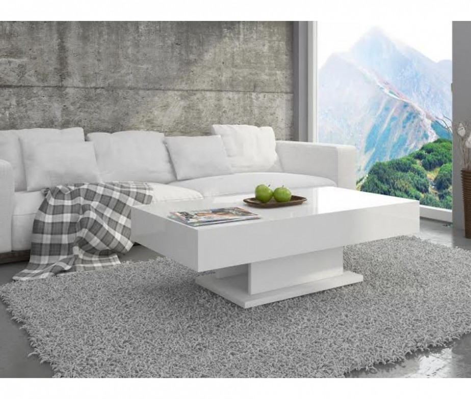 Modern White Coffee Table White High Gloss Coffee Table With Storage Ideas