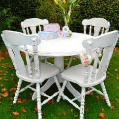 Dinner Table And Chairs Baby High Asda Top 50 Shabby Chic Round Dining Home