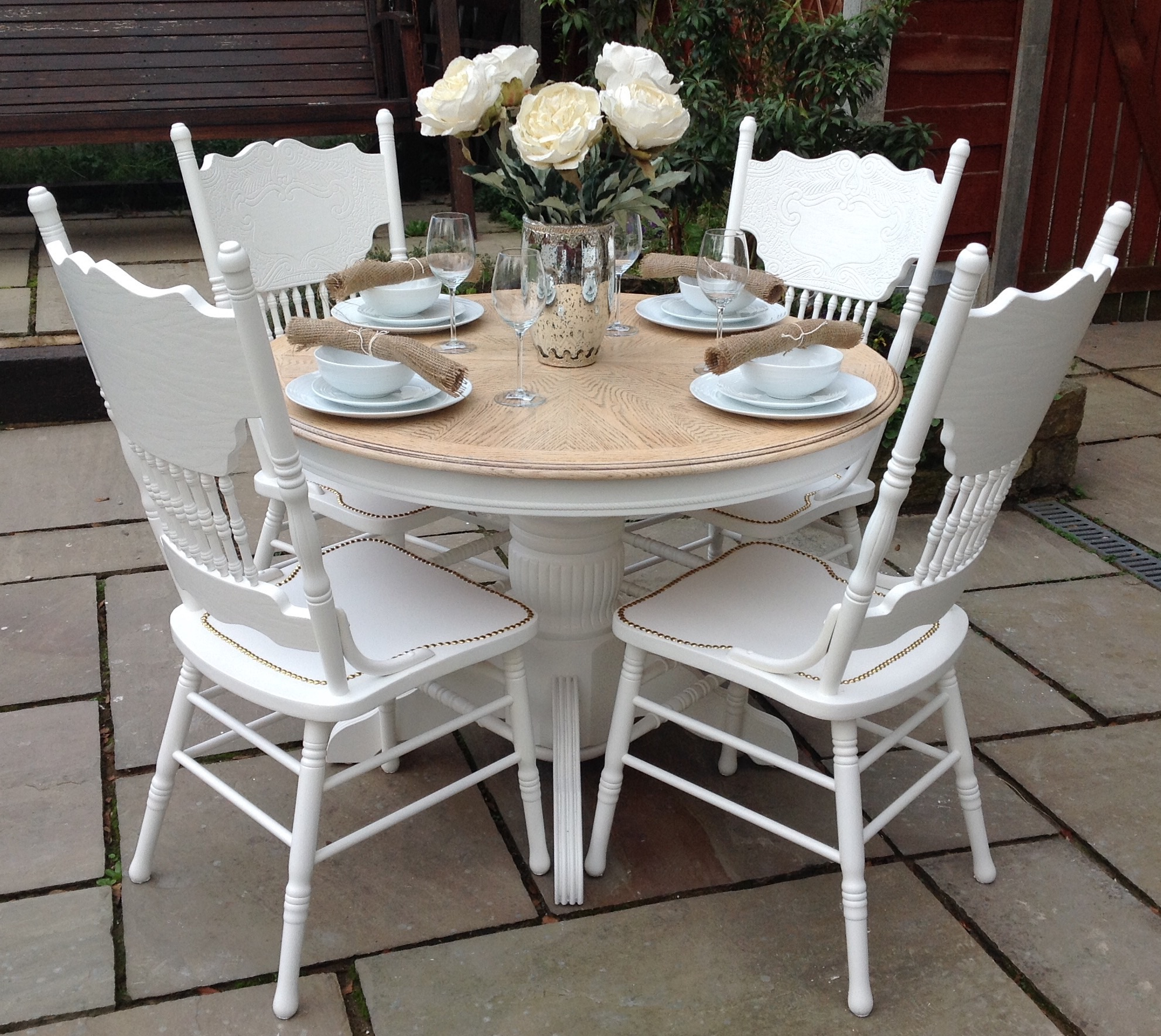 Round Dining Table And Chairs Top 50 Shabby Chic Round Dining Table And Chairs Home