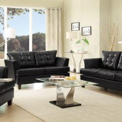 Black Sofa Living Room Images Chesterfield Sofas 35 Best Beds Design Ideas In Uk Decorating For With Leather Contemporary Seating The Versatility And Allure Of