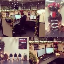 Easy DIY Office Christmas Decoration Ideas 26