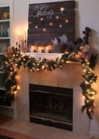 Inspiring Rustic Christmas Fireplace Ideas To Makes Your Home Warmer 23