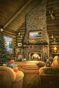 Inspiring Rustic Christmas Fireplace Ideas To Makes Your Home Warmer 30