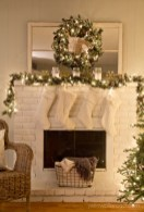 Inspiring Rustic Christmas Fireplace Ideas To Makes Your Home Warmer 34