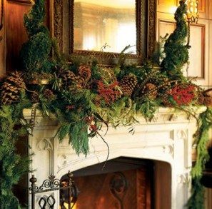 Inspiring Rustic Christmas Fireplace Ideas To Makes Your Home Warmer 41