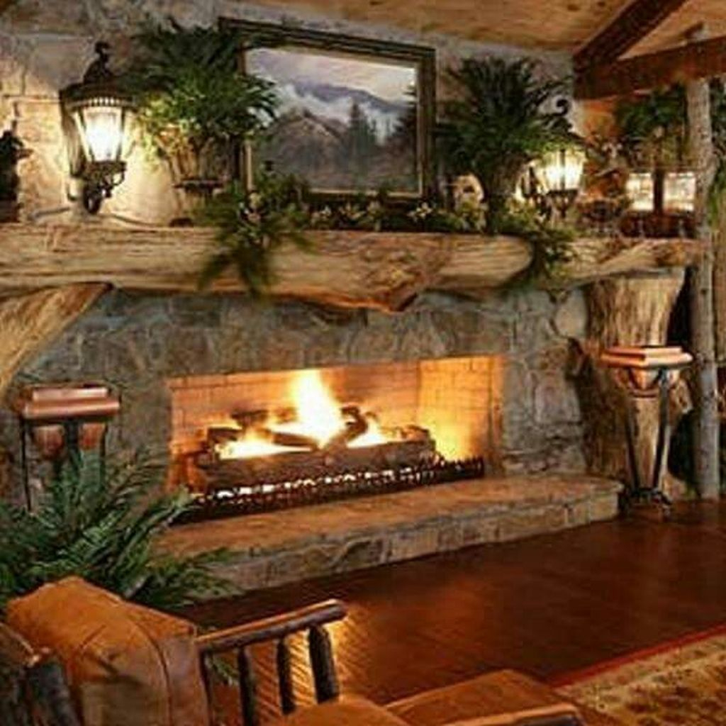 99 Inspiring Rustic Christmas Fireplace Ideas To Makes