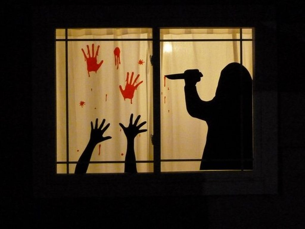 halloween window decorations 76 scary but creative diy window decorations 29704