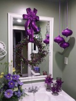 Adorable Pink And Purple Christmas Decoration Ideas 08