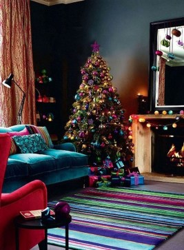 Adorable Pink And Purple Christmas Decoration Ideas 28