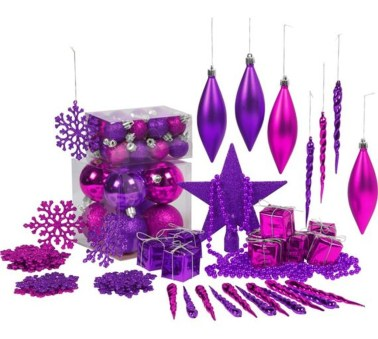 Adorable Pink And Purple Christmas Decoration Ideas 33
