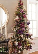 Adorable Pink And Purple Christmas Decoration Ideas 38