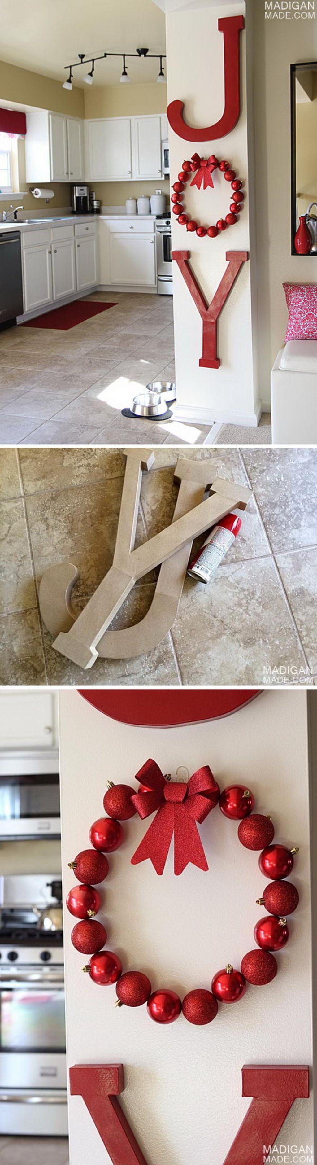 Adorable Rustic Christmas Kitchen Decoration Ideas 73
