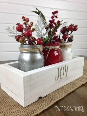 Adorable Rustic Christmas Kitchen Decoration Ideas 88