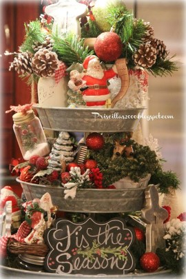 Adorable Rustic Christmas Kitchen Decoration Ideas 89
