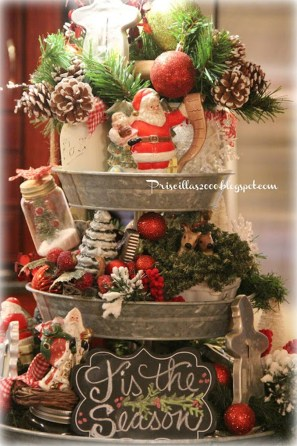 Adorable Rustic Christmas Kitchen Decoration Ideas 89