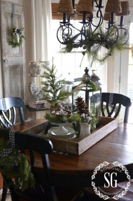 Adorable Rustic Christmas Kitchen Decoration Ideas 90