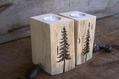 Creative DIY Christmas Candle Holders Ideas To Makes Your Room More Cheerful 14