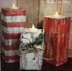 Creative DIY Christmas Candle Holders Ideas To Makes Your Room More Cheerful 23