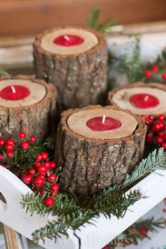 Creative DIY Christmas Candle Holders Ideas To Makes Your Room More Cheerful 38
