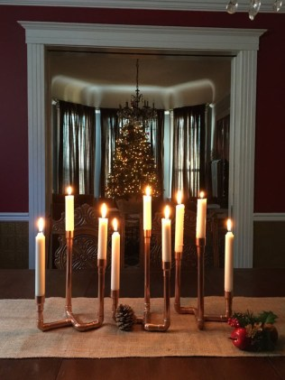 Creative DIY Christmas Candle Holders Ideas To Makes Your Room More Cheerful 41