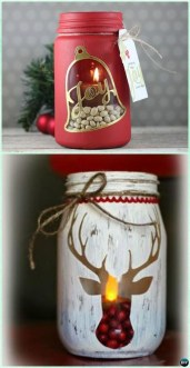 Creative DIY Christmas Candle Holders Ideas To Makes Your Room More Cheerful 52