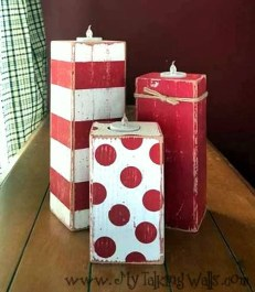 Creative DIY Christmas Candle Holders Ideas To Makes Your Room More Cheerful 54