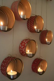 Creative DIY Christmas Candle Holders Ideas To Makes Your Room More Cheerful 55