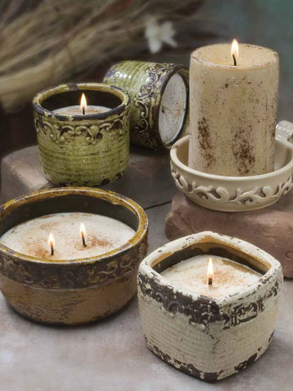 Creative DIY Christmas Candle Holders Ideas To Makes Your Room More Cheerful 76
