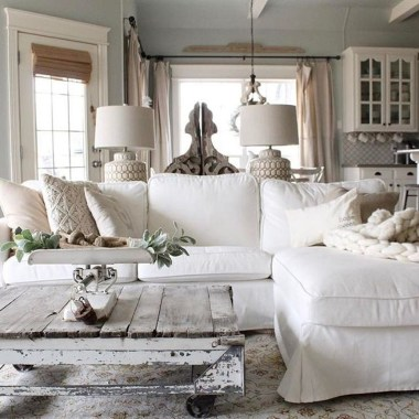 Creative DIY Shabby Chic Decoration Ideas For Your Living Room 57