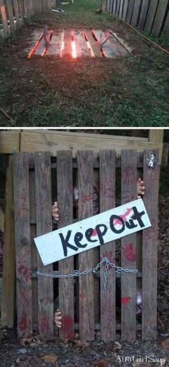 Creepy But Creative DIY Halloween Outdoor Decoration Ideas 35