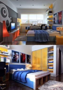Cute Boys Bedroom Design Ideas For Small Space 40