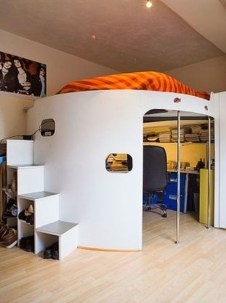Cute Boys Bedroom Design Ideas For Small Space 71